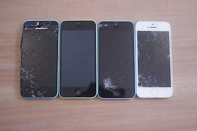 Lot of (3) iphone 5c and (1) iphone 5s
