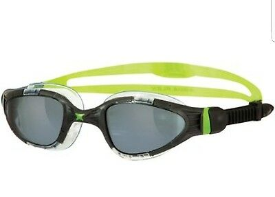 Zoggs Aqua Flex Titanium Swimming Goggles - tinted lenses - black/lime