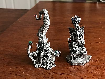 Rawcliffe Pewter Dragon And Wizard - Mint