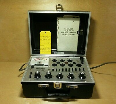Hickok Model 230 Solid State Dynamic Emission Tube Tester With Manual - Working