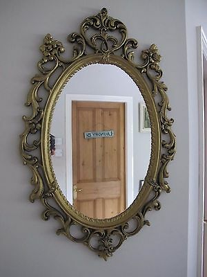 Very Large  Oval Vintage Look Mirror Manchester