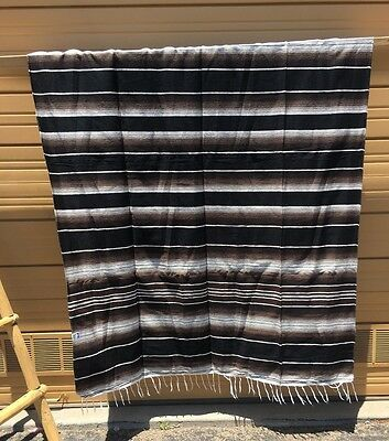 Serape XXL,5' X 7',Mexican Blanket,HOT ROD,Seat Covers, Motorcycle, BROWN MIX