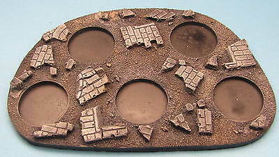 PAINTED 40K Movement Tray Rubble 25mm round bases Space Marine Bolt Action