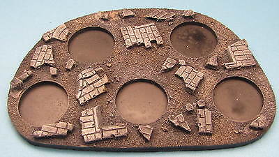 Unpainted 40K Movement Tray Rubble 25mm round bases Space Marine Bolt Action