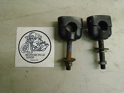 1981 Yamaha Excitor SR250 Handlebar Clamps with Hardware