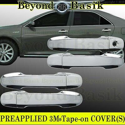 For 2003-2008 Toyota Corolla TRIPLE Chrome Door Handle Covers Overlays w//PSK
