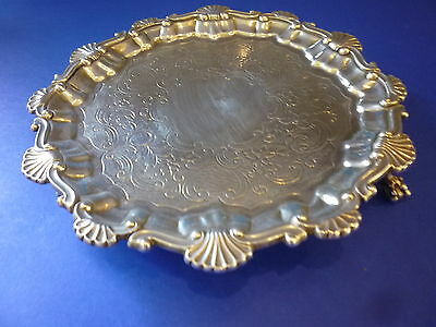 Georgian English Sterling Silver Waiter / Tray No Reserve