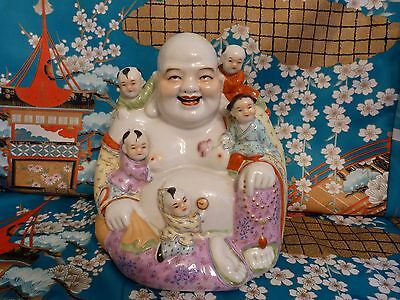 A Good Antique Chinese Famille Rose Buddha
