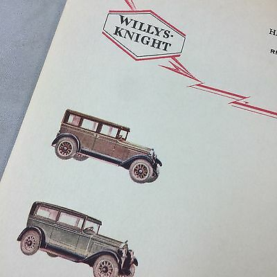 1920s Antique WILLYS KNIGHT Auto Motor Car WHIPPET Letterhead River Rouge Mich