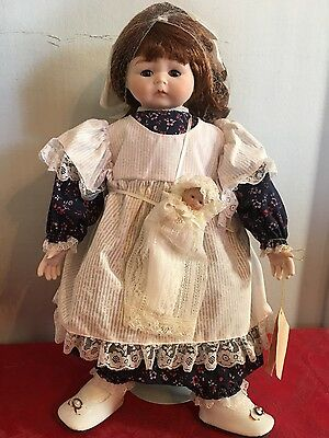 """Margie Costa """"Katie"""" porcelain doll by Design Debut Doll w/box and COA"""