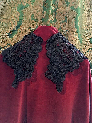 Elegant Vintage Black Lace Collar