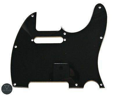 Black Tele Telecaster Electric Guitar Pickguard Scratch Plate 3 Ply
