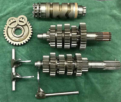2005 Ducati Monster MH600 Transmission gears w/ Shift Drum and forks