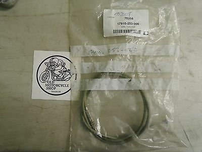 NOS OEM Honda CB200T Throttle Cable A P/N 17910-253-000