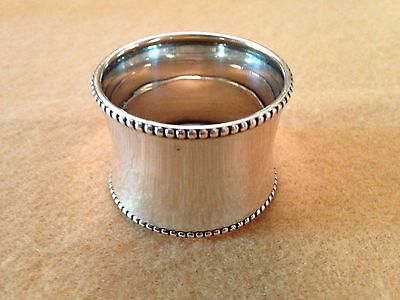 Antique Sterling Silver Napkin Ring Hallmarked 44.39 grams