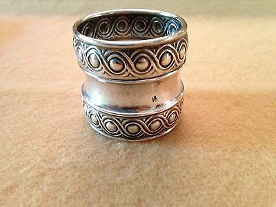 Antique Sterling Silver Napkin Ring with Hallmark  24.15 grams