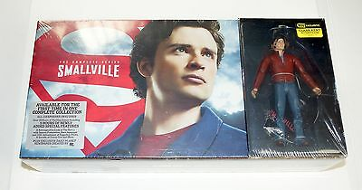 Smallville NEW The Complete Series DVD 62 Disc Book CLARK KENT Action Figure CW