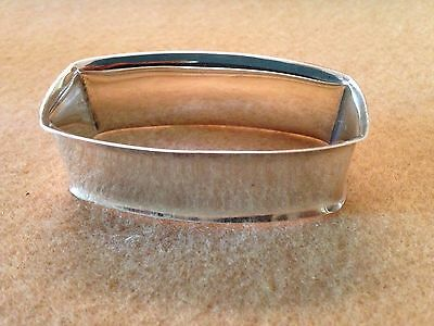 "Antique Sterling Silver Napkin Ring with hallmark and monogrammed ""W"""