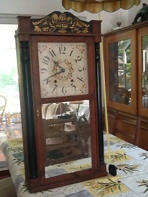 Antique Woodworks Clock Boardmanand Wells 1830@