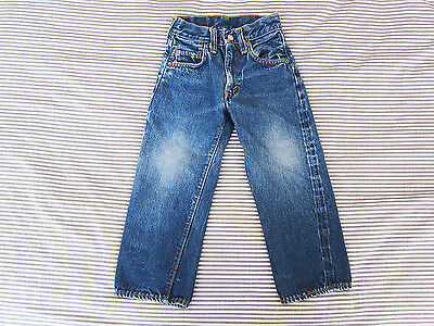 Vtg LEVIS Big E 60's Kids Jeans 302-0117 Sz 20 x 16 Made in USA Selvedge denim