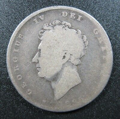 Great Britain 1 Shilling 1826 Silver George Iv Lion United Kingdom Uk Gb Coin