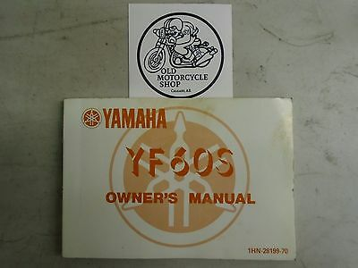 OEM 1985 Yamaha YF60S Owner's Manual French/English P/N 1HN-28199-70