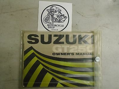 OEM Suzuki GT250 Owner's Manual with Plastic Cover
