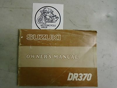 OEM 1978 Suzuki DR370 Owner's Manual French/English P/N 99011-32431-03A