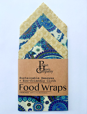 Beeswax Food Wraps | 4 SMALL