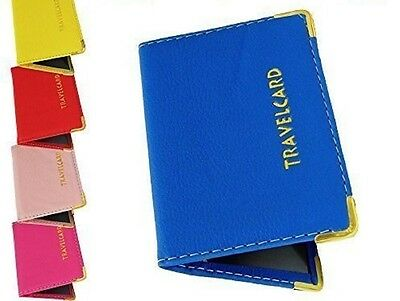 Leather Travel Oyster Card Bus Pass Rail Card Holder Wallet Card Cover Case B3