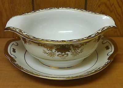 Sone China ~ Gravy Bowl ~ 7-1/2 Inch ~ Ornate Gold Pattern ~ Made In Japan