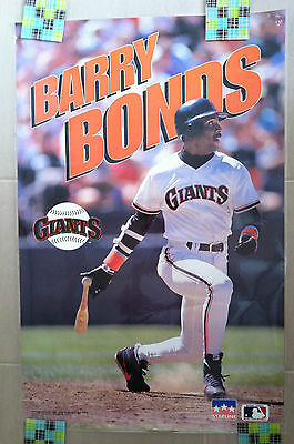 BARRY BONDS San Francisco Giants 1993 Starline Laminated POSTER MLB Baseball