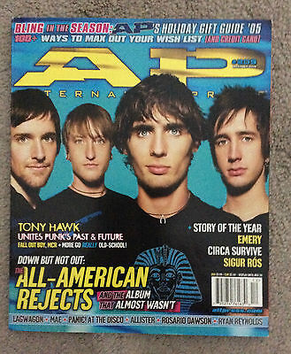 ALTERNATIVE PRESS Magazine All American Rejects December 2005 #209 Sigur Ros
