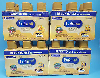 24 x Enfamil Infant Formula Ready to Use 8 Fluid oz Bottle