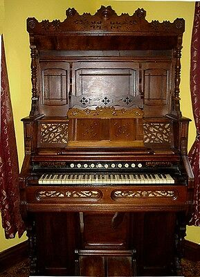 Antique 1890 Western Cottage Pump Organ~Works