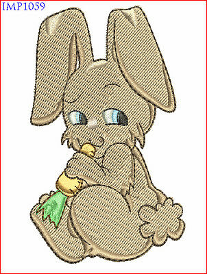 Easter Bunny Rabbits Machine Embroidery Designs - 10 Designs, 2 Sizes