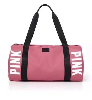 Brand New Victorias Secret PINK Gym Duffle Bag Soft Begonia
