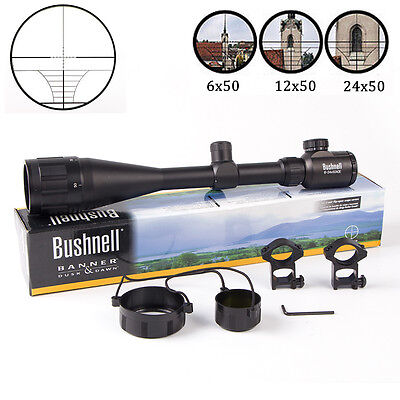 Bushnell Banner Accurate Elite 6-24x50AO Utility Tactical Rifle Scope FREE Mount