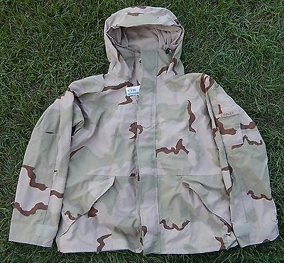 US Army ECWCS Cold Weather Parka Jacket Gore-Tex DCU Desert Camo X-LARGE REG new