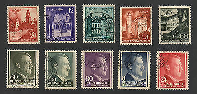 WWII Garmany Occupied Poland (1940 - 1944) - Lot of 10 Different Stamps - #1