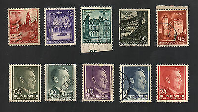 WWII Germany Occupied Poland (1940 - 1944) - Lot of 10 Different Stamps - #3