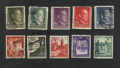 WWII Germany Occupied Poland (1940 - 1944) - Lot of 10 Different Stamps - #4