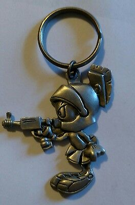 *Vintage WB*MARVIN THE MARTIAN*Keychain Rawcliffe PEWTER*Key Chain*RAY GUN*1995*