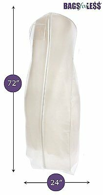 "Travel Garment Dress Cover Bridal 72"" Wedding Gown XL Breathable Zipper Premium"