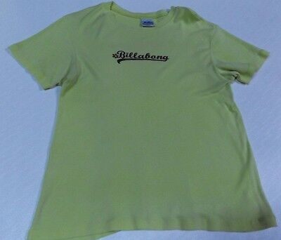 Billabong Yellow T Shirt  Girls 16 Womens 10