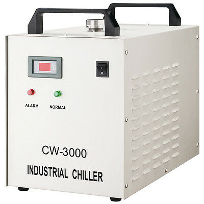 CW-3000DF Industrial Water Chiller for 0.8KW / 1.5KW CNC Spindle Cooling 110V
