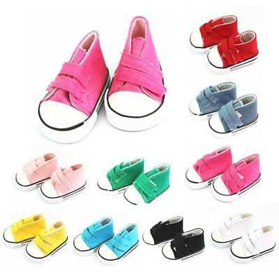 """Sticky Belt Canvas Sneakers for 18"""" American Girl Gym Shoes Clothes My Life Doll"""