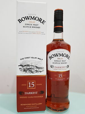 Bowmore Darkest 15 Year Old Single Malt Scotch Whisky (700ml)
