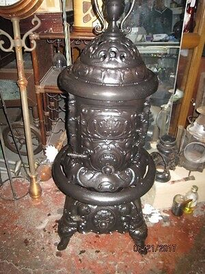 vintage olive cast iron pot belly stove