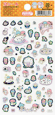 "Sanrio Little Twin Stars ""Summer"" Holographic Stickers (2015)"